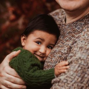 Children having fun in family photo session
