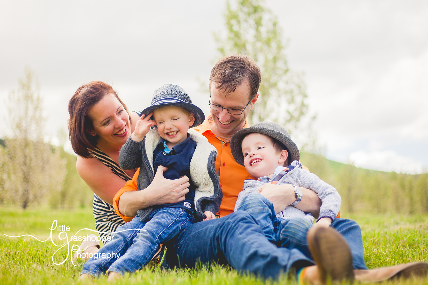 Spring Session | Family of Four | Two Boys